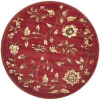 "Safavieh Lyndhurst Traditional Floral Red/ Multi Rug - 5'3"" x 5'3"" round"