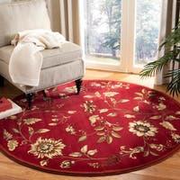 "Safavieh Lyndhurst Traditional Floral Red/ Multi Rug - 5'3"" x 5'3"" round"