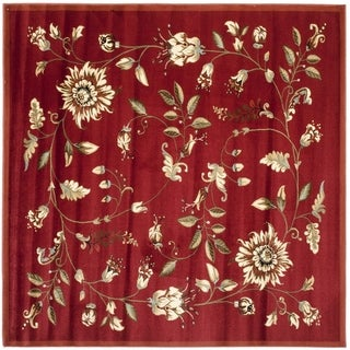 Safavieh Lyndhurst Traditional Floral Red/ Multi Rug (6'7 Square)
