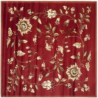 "Safavieh Lyndhurst Traditional Floral Red/ Multi Rug - 6'7"" x 6'7"" square"