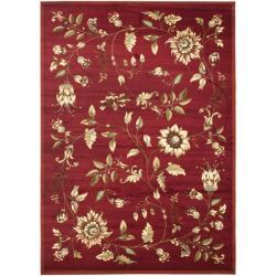Safavieh Lyndhurst Traditional Floral Red/ Multi Rug (6'7 x 9'6)