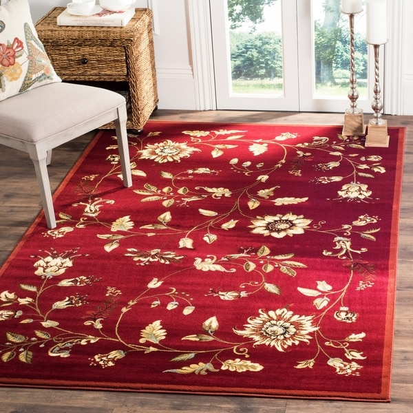 "Safavieh Lyndhurst Traditional Floral Red/ Multi Rug - 6'7"" x 9'6"""
