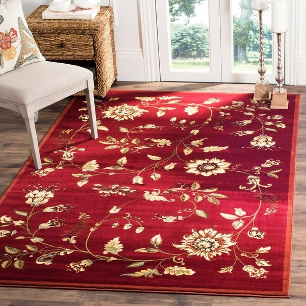 Safavieh Lyndhurst Traditional Floral Red/ Multi Rug - 8' x 11'