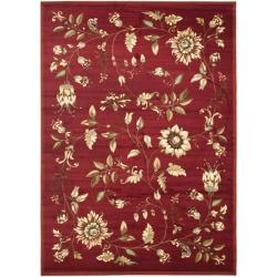 Safavieh Lyndhurst Traditional Floral Red/ Multi Rug (9' x 12')