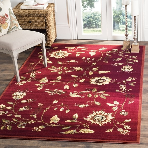 Safavieh Lyndhurst Traditional Floral Red/ Multi Rug (8' 9 x 12')