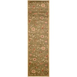 Safavieh Lyndhurst Traditional Floral Green/ Multi Rug (2'3 x 12')