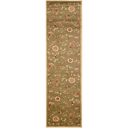 Safavieh Lyndhurst Traditional Floral Green/ Multi Rug (2'3 x 16')