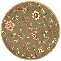 "Safavieh Lyndhurst Traditional Floral Green/ Multi Rug - 5'3"" x 5'3"" round"