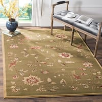 Safavieh Lyndhurst Traditional Floral Green/ Multi Rug (6'7 x 9'6)