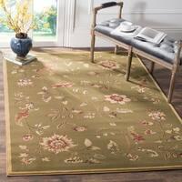 Safavieh Lyndhurst Traditional Floral Green/ Multi Rug - 8' x 11'