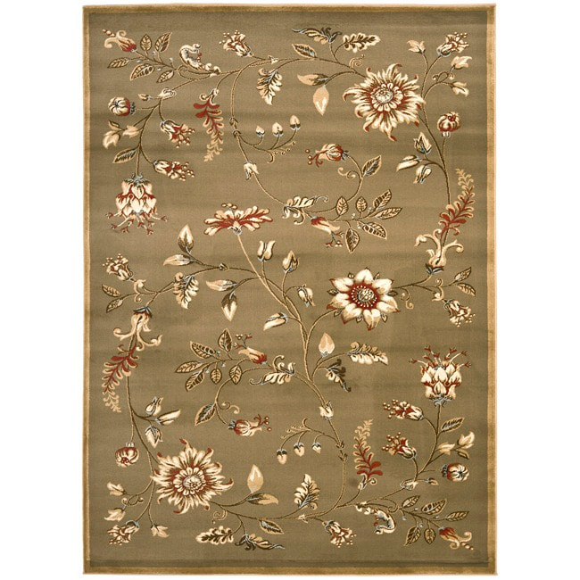 Safavieh Lyndhurst Traditional Floral Green/ Multi Rug (9' x 12')