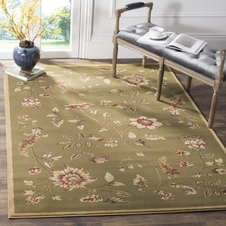 Safavieh Lyndhurst Traditional Floral Green/ Multi Rug (8' 9 x 12')