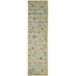 Safavieh Lyndhurst Traditional Floral Blue/ Multi Rug (2'3 x 12')