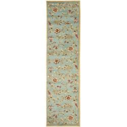Safavieh Lyndhurst Traditional Floral Blue/ Multi Rug (2'3 x 16')