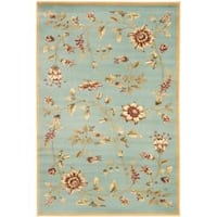 Safavieh Lyndhurst Traditional Floral Blue/ Multi Rug (3'3 x 5'3)