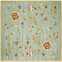 "Safavieh Lyndhurst Traditional Floral Blue/ Multi Rug - 6'7"" x 6'7"" square"