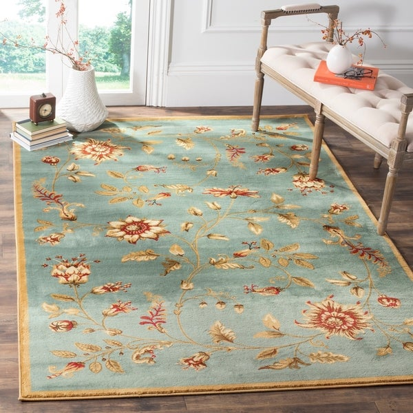 Safavieh Lyndhurst Traditional Floral Blue/ Multi Rug - 6'7 x 9'6