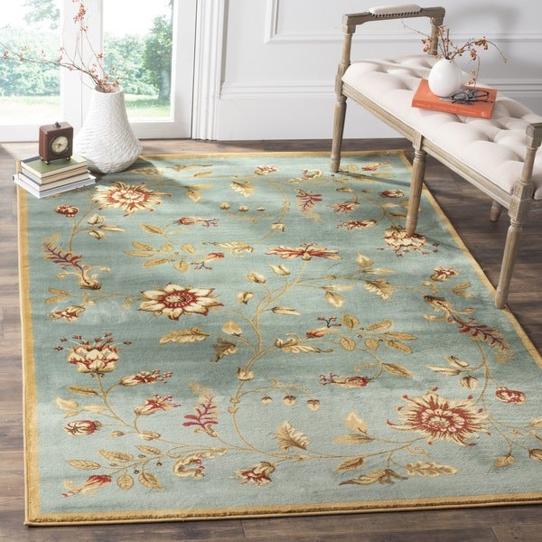 Safavieh Lyndhurst Traditional Floral Blue/ Multi Rug (6'7 x 9'6)