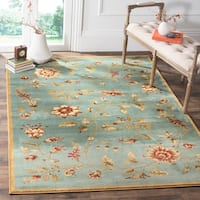 Safavieh Lyndhurst Traditional Floral Blue/ Multi Rug (8' x 11')