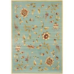 Safavieh Lyndhurst Traditional Floral Blue/ Multi Rug (9' x 12')