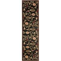 "Safavieh Lyndhurst Traditional Floral Black/ Multi Rug - 2'3"" x 12'"