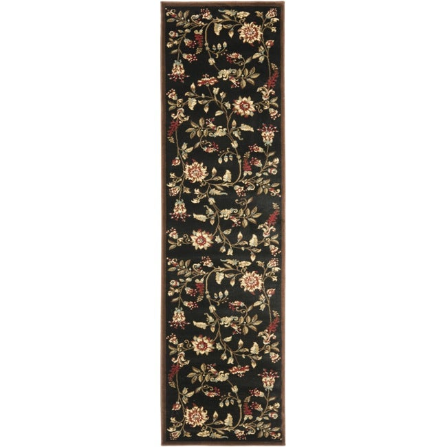 "Safavieh Lyndhurst Traditional Floral Black/ Multi Rug - 2'3"" x 16'"