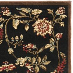Safavieh Lyndhurst Traditional Floral Black/ Multi Rug (2'3 x 16') - Thumbnail 1