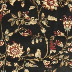 Safavieh Lyndhurst Traditional Floral Black/ Multi Rug (2'3 x 16') - Thumbnail 2