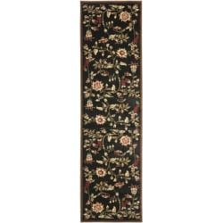 Safavieh Lyndhurst Traditional Floral Black/ Multi Rug (2'3 x 16')
