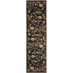 Safavieh Lyndhurst Traditional Floral Black/ Multi Rug (2'3 x 16') - Thumbnail 0
