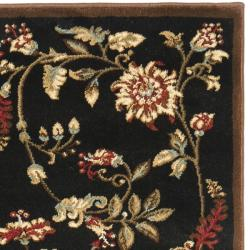Safavieh Lyndhurst Traditional Floral Black/ Multi Rug (2'3 x 8') - Thumbnail 1