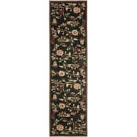 "Safavieh Lyndhurst Traditional Floral Black/ Multi Rug - 2'3"" x 8'"
