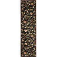 Safavieh Lyndhurst Traditional Floral Black/ Multi Rug (2'3 x 8')