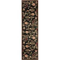 "Safavieh Lyndhurst Traditional Floral Black/ Multi Rug - 2'3"" x 8' Runner"