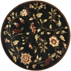 Safavieh Lyndhurst Traditional Floral Black/ Multi Rug (5'3 Round)