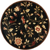"Safavieh Lyndhurst Traditional Floral Black/ Multi Rug - 5'3"" x 5'3"" round"