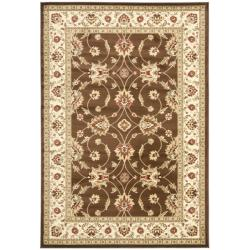 Safavieh Lyndhurst Traditional Oriental Brown/ Ivory Rug (5'3 x 7'6)