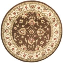 Safavieh Lyndhurst Traditional Oriental Brown/ Ivory Rug (5'3 Round)