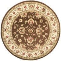 Safavieh Lyndhurst Traditional Oriental Brown/ Ivory Rug (5'3 Round)