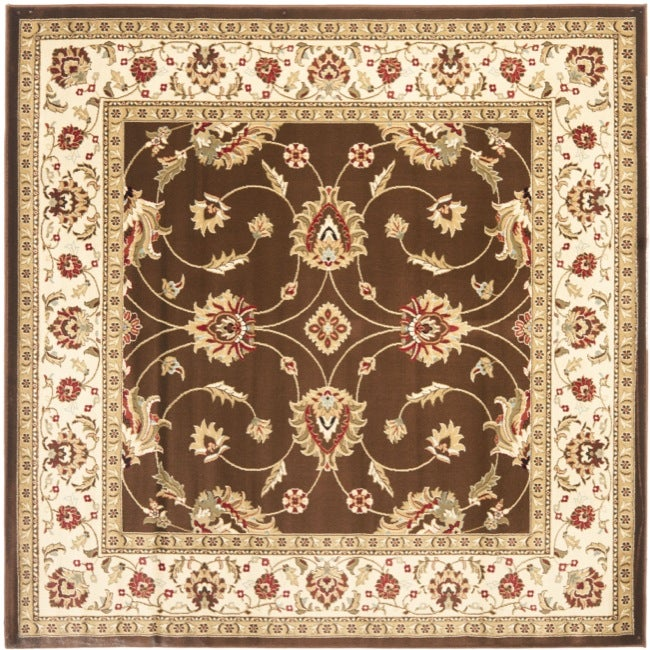 Safavieh Lyndhurst Traditional Oriental Brown/ Ivory Rug (6'7 Square)