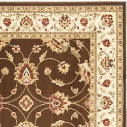 Safavieh Lyndhurst Traditional Oriental Brown/ Ivory Rug (6'7 Square) - Thumbnail 1
