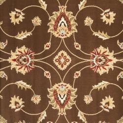 Safavieh Lyndhurst Traditional Oriental Brown/ Ivory Rug (6'7 Square) - Thumbnail 2