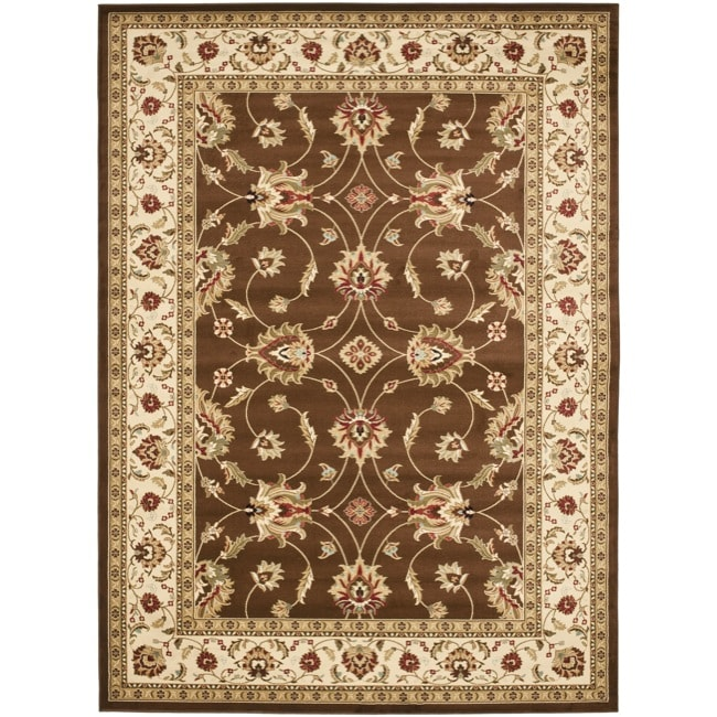Safavieh Lyndhurst Traditional Oriental Brown/ Ivory Rug - 6'7 x 9'6