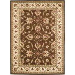 Safavieh Lyndhurst Traditional Oriental Brown/ Ivory Rug - 6'7 x 9'6 - Thumbnail 0