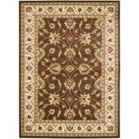 Safavieh Lyndhurst Traditional Oriental Brown/ Ivory Rug - 6'7 x 9'6