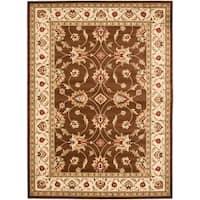 "Safavieh Lyndhurst Traditional Oriental Brown/ Ivory Rug - 6'-7"" x 9'-6"""