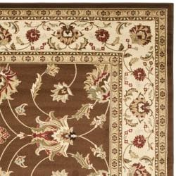 Safavieh Lyndhurst Traditional Oriental Brown/ Ivory Rug (8' x 11') - Thumbnail 1