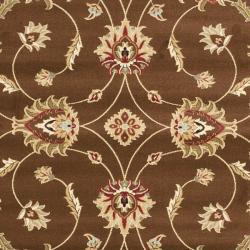 Safavieh Lyndhurst Traditional Oriental Brown/ Ivory Rug (8' x 11') - Thumbnail 2