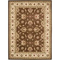 Safavieh Lyndhurst Traditional Oriental Brown/ Ivory Rug - 8' x 11'