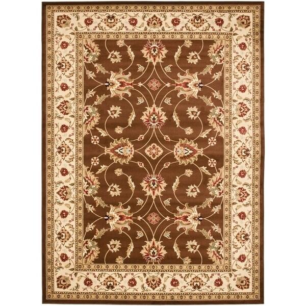 Safavieh Lyndhurst Traditional Oriental Brown/ Ivory Rug - 8' X 11'